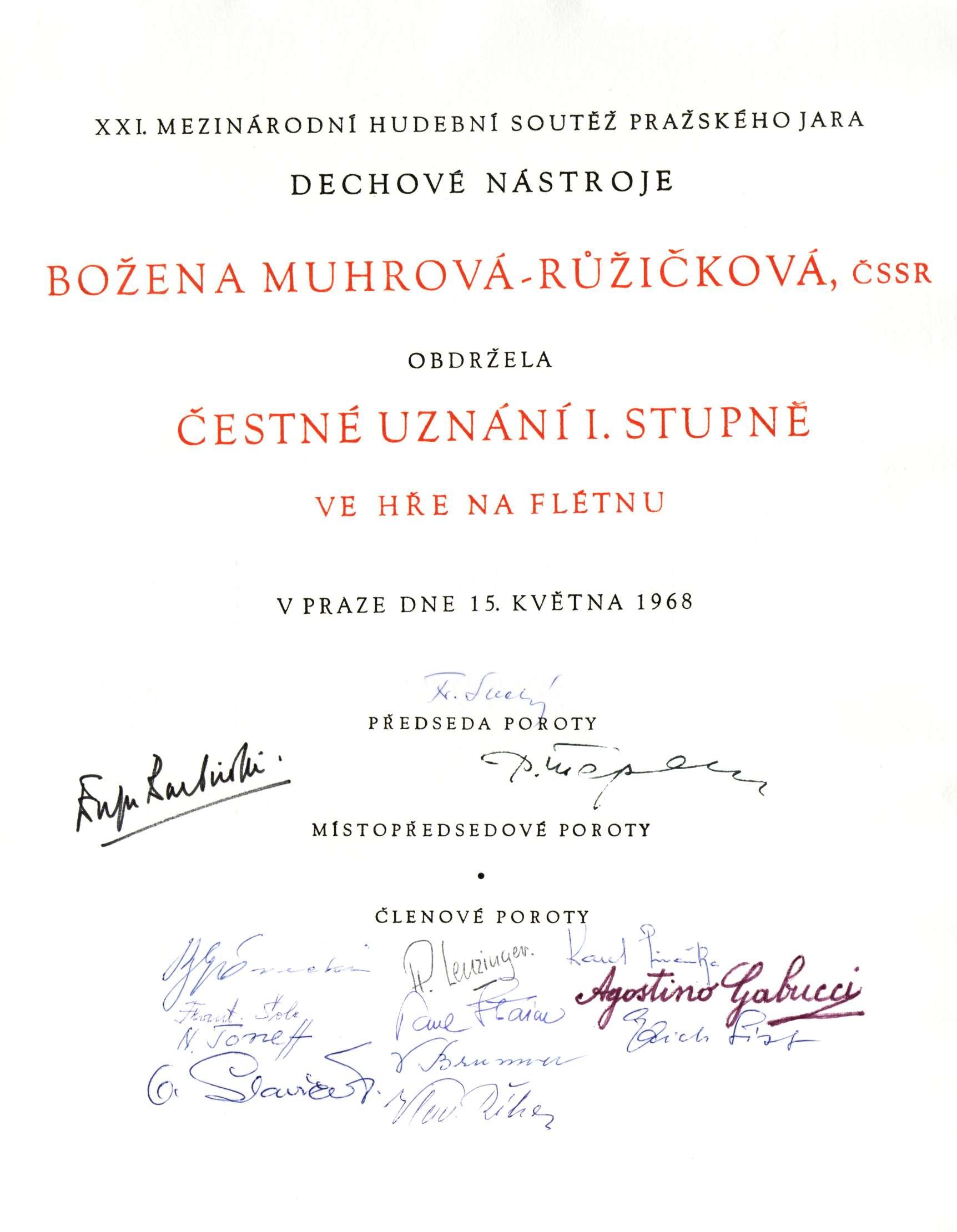 Ruzickova Bozena Zivotopis